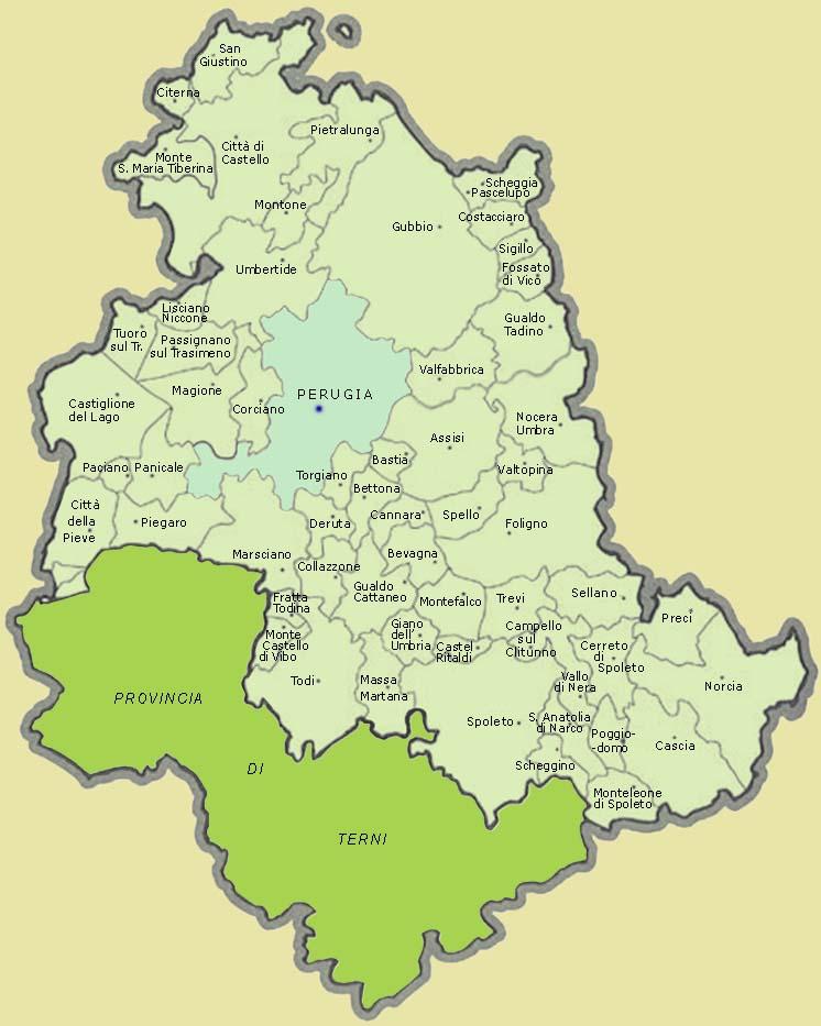 cartina dellumbria con tutti i comuni - photo#3